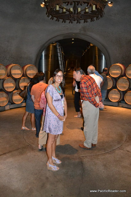 Taryn Touring the Casks