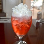 Cherry vanilla soda w/ whipped cream