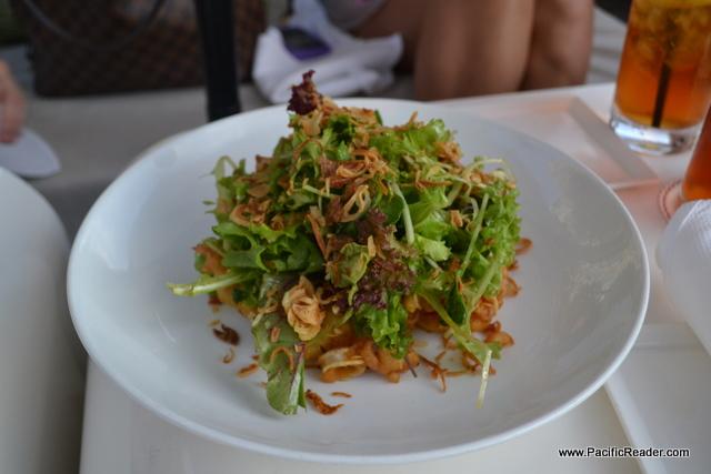 Best Salad is at Morimoto Waikiki, Tempura Calamari Salad